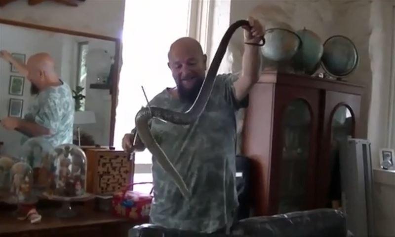 Австралиец принял смертельно ядовитую змею за зарядку от телефона