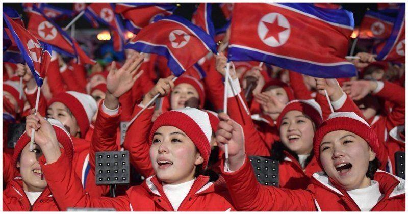 ВИДЕО: Олимпиадада солтүстіккореялық жанкүйерлер жұртты таң қалдырды