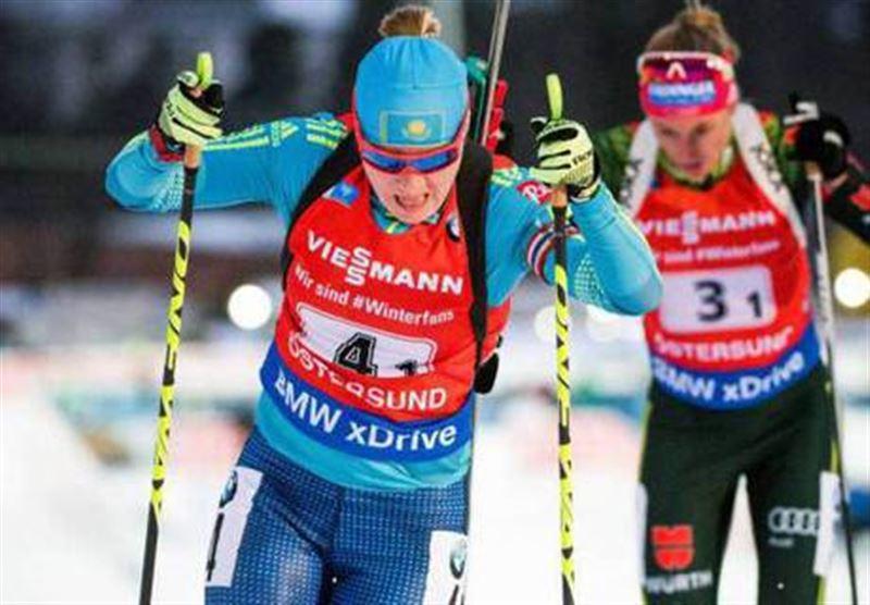 Галина Вишневская - Олимпиада ойындарының із қуу жарысында 20-орында