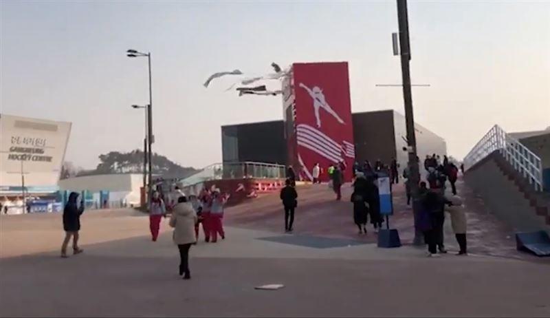 На Пхенчхан, где проводятся Олимпийские игры, обрушился ураган