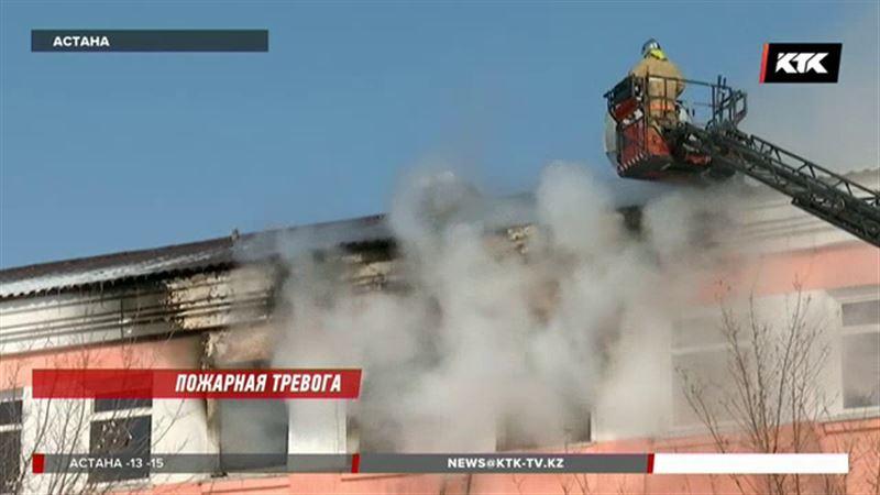 В Астане горел детский дом, спасли 25 человек