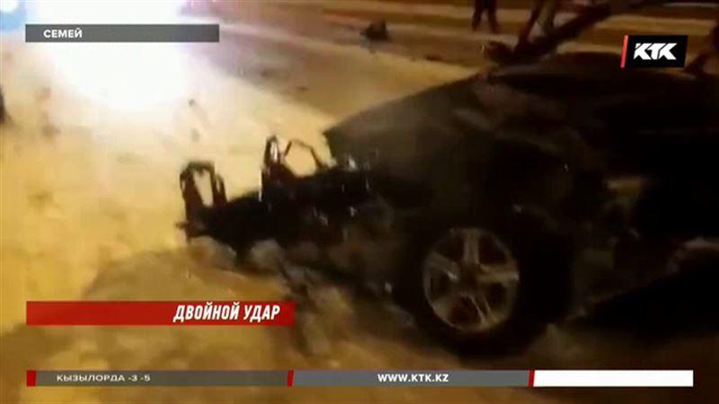 В Семее автомобиль врезался в фуру