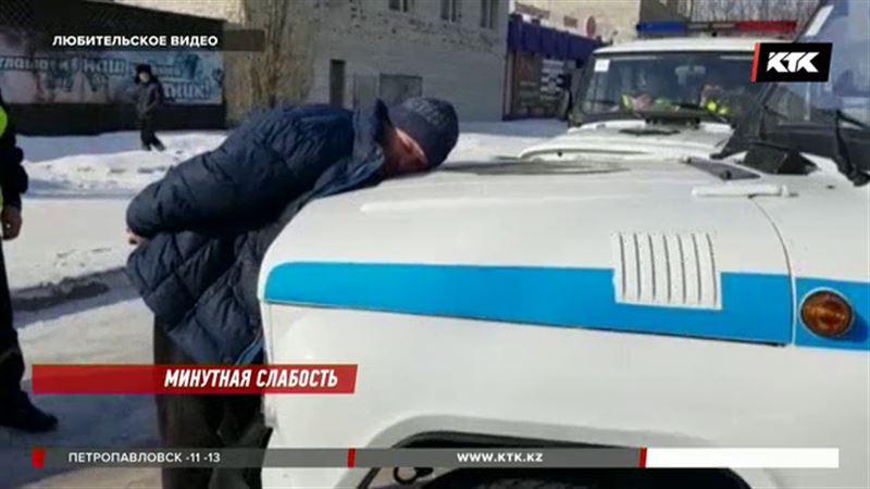 За 60 секунд задержали угонщика полицейские Семея