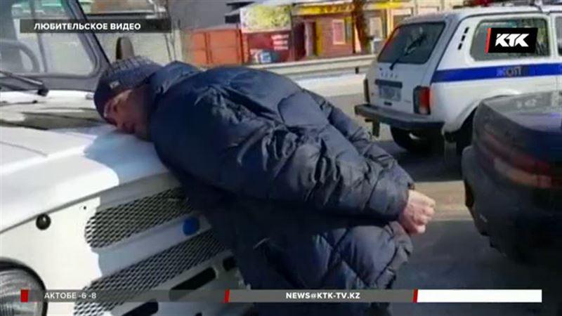 Полицейские Семея за 1 минуту задержали угонщика