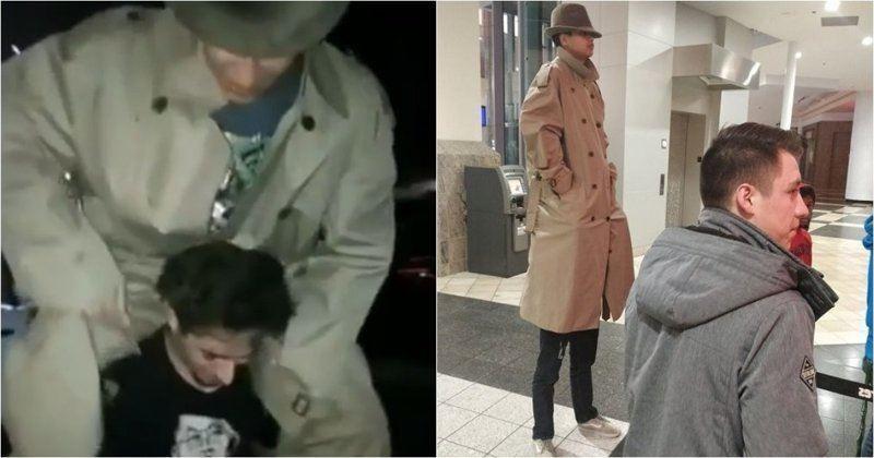 ВИДЕО: Екі адам бір адам болып жасырынып киноға кірмек боп күлкіге қалды