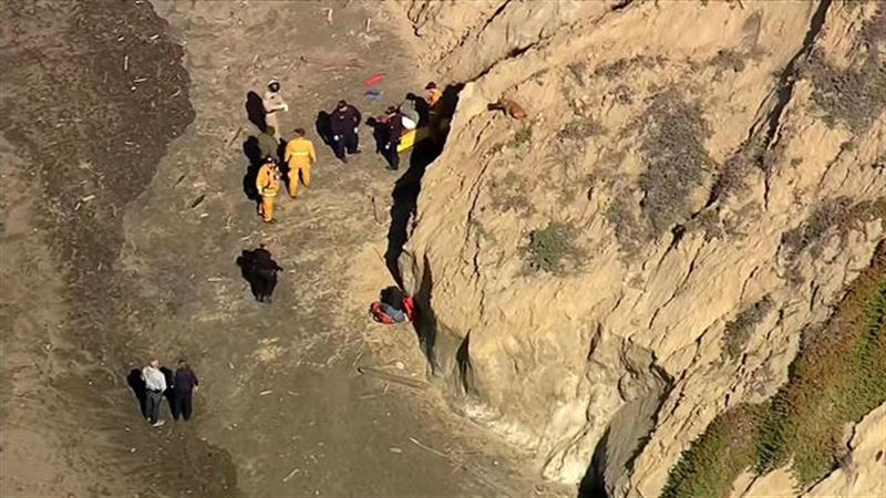 Мужчина упал со скалы, пытаясь спасти собаку
