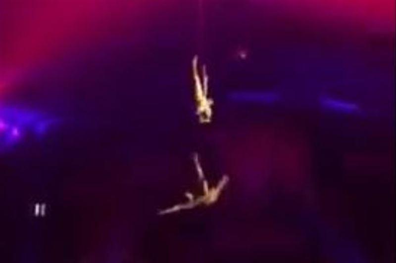 Момент падения акробата во время выступления цирка Запашного попал на видео
