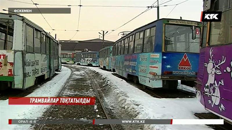 Өскеменде трамвай қозғалысы толығымен тоқтатылды