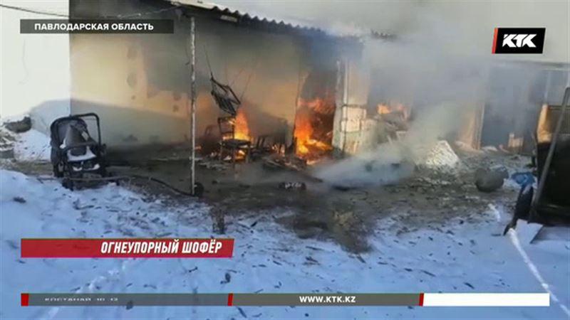 Павлодарский водитель спас из огня троих детей