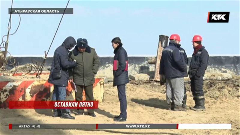 Недропользователи не сообщили о гигантском нефтяном пятне в Атырауской области