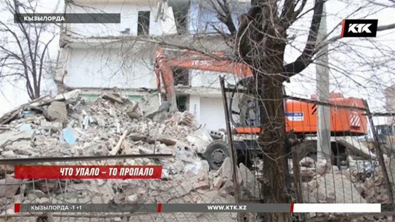«Кое-как выбрались»: в Кызылорде  обрушилось общежитие