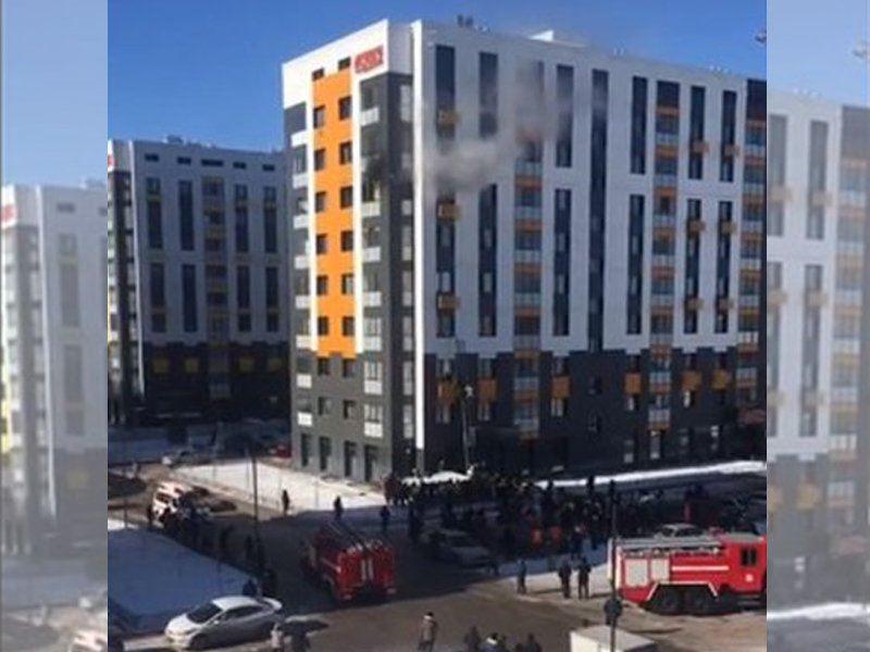 В Астане охватило огнем жилой комплекс «Nova City»