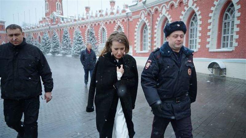 В Сети появилось видео нападения на Ксению Собчак
