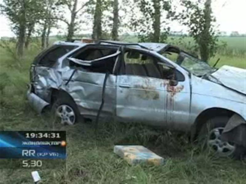 Четверо россиян погибли в автомобильной катастрофе в Северо-Казахстанской области
