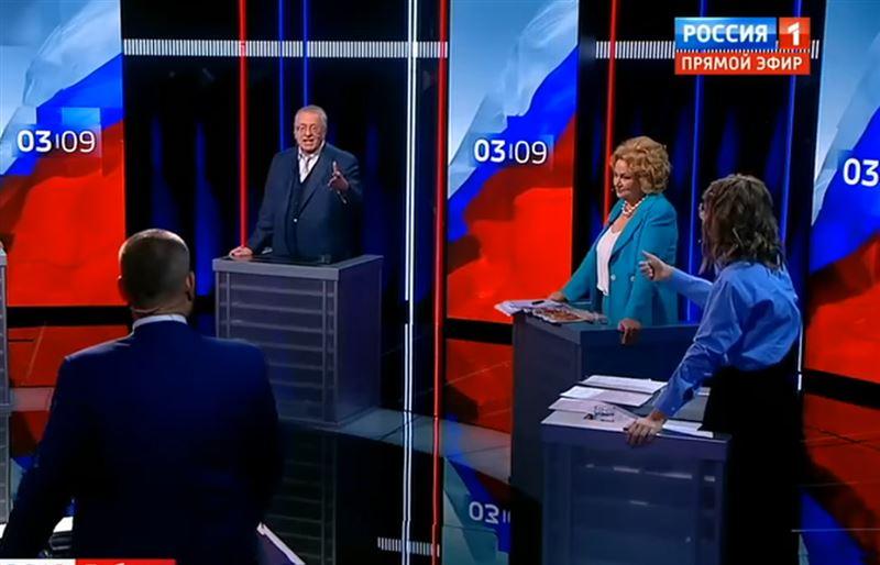 Собчак и Жириновский опять устроили скандал на предвыборных дебатах