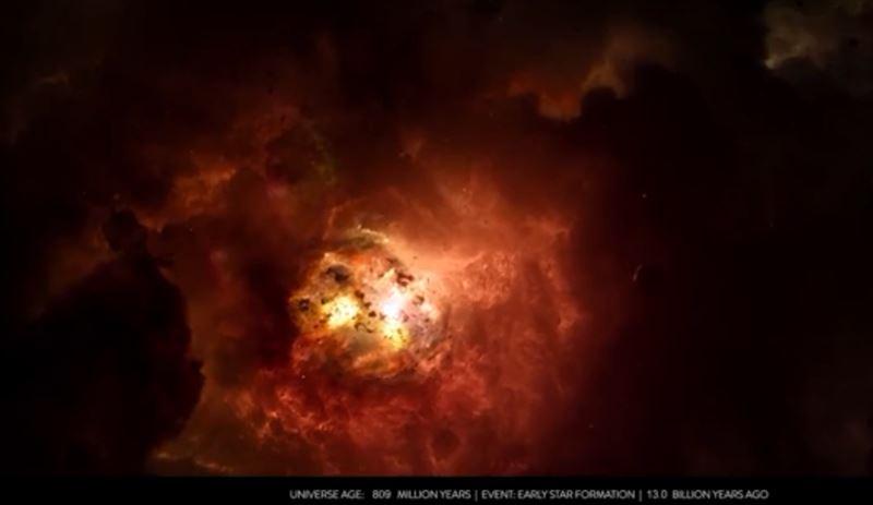 14 миллиардов лет зарождения и развития Вселенной показали в 10-минутном видео