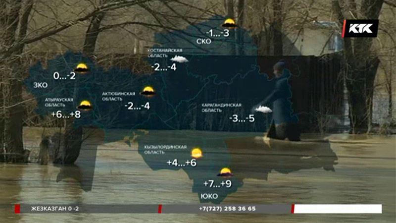 Девять областей Казахстана под угрозой
