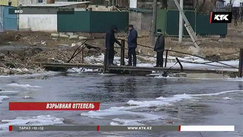 В Восточном Казахстане взрывают реки