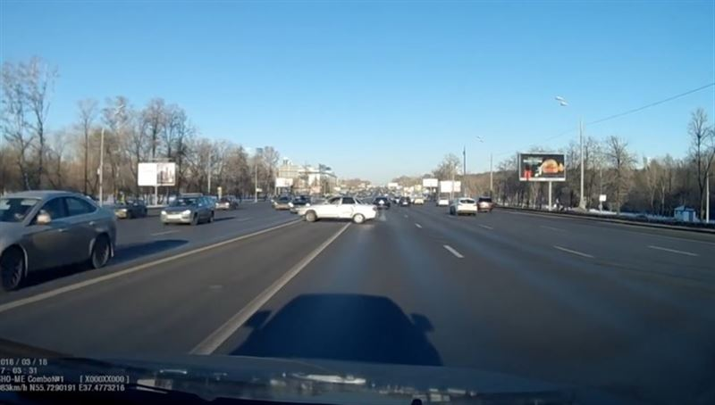 В Сети появились кадры смертельного ДТП на Кутузовском проспекте
