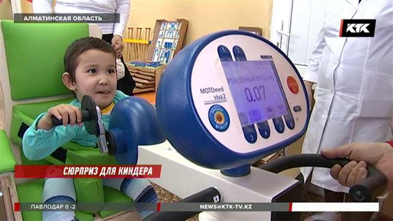 Чудо-тренажеры подарили детям с ДЦП