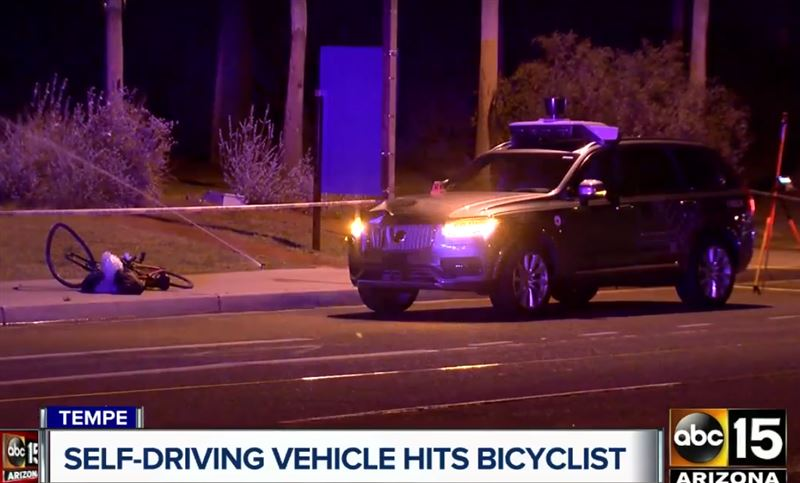 Беспилотный автомобиль убил велосипедистку