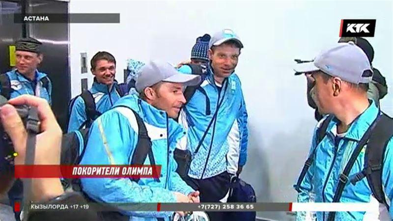 Казахстан встретил своих паралимпийцев