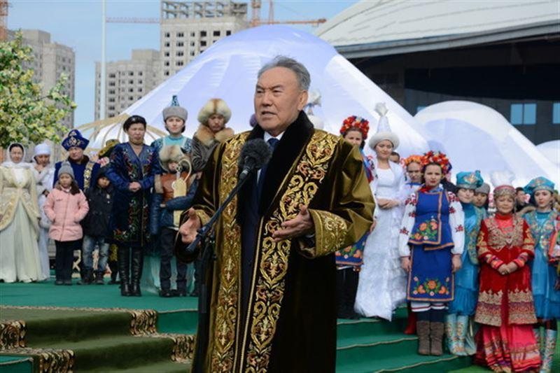 Президент Нурсултан Назарбаев поздравил жителей Казахстана с Наурыз мейрамы