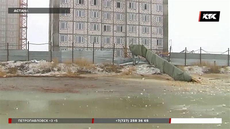 Почему в Астане упал башенный кран, расскажут эксперты