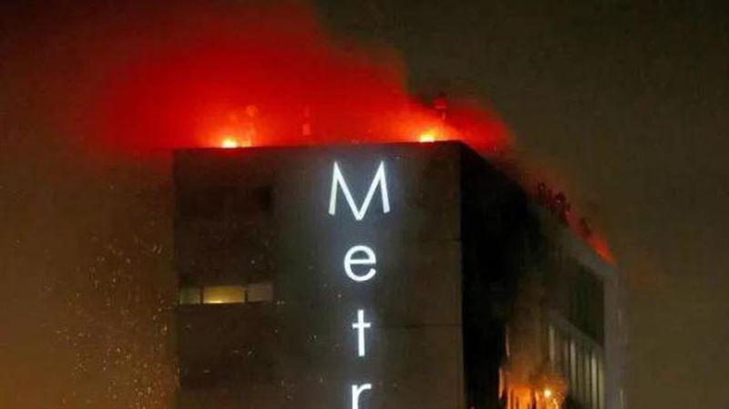 В Дублине горят несколько этажей гостиницы Metro Hotel