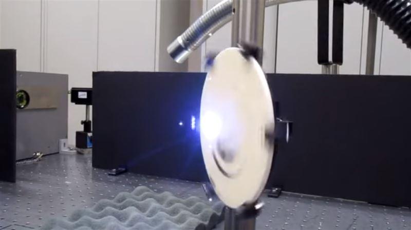 На видео показали работу акустической лазерной пушки