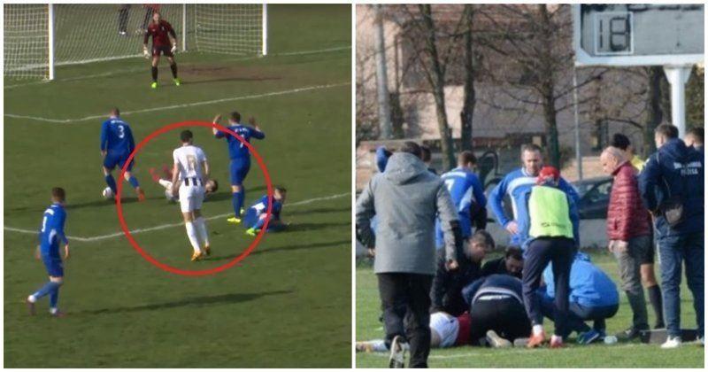 ВИДЕО: 25 жастағы футболшы матч кезінде қаза тапты