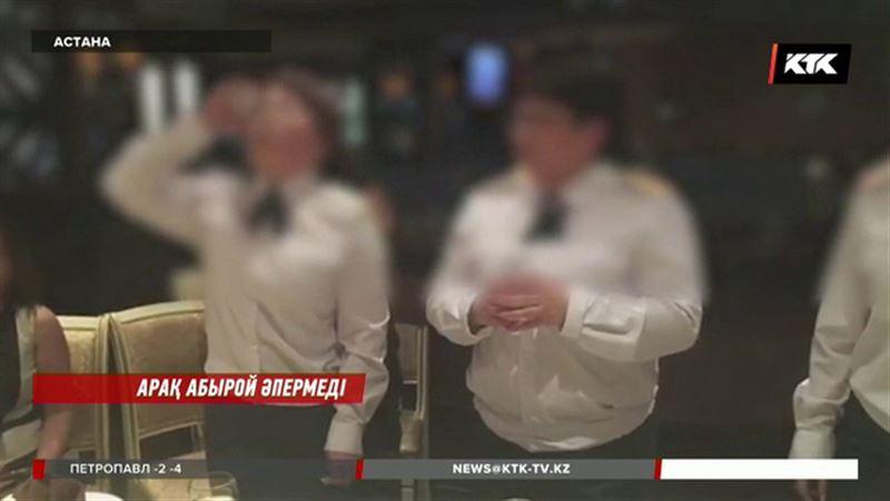 Әскери атақ үшін арақ ішкен офицер әйелдер қатаң сөгіс алып тынды