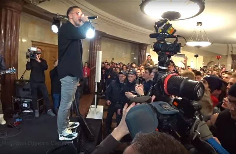 Хип-хоп исполнитель T-Killah дал концерт в московском метро