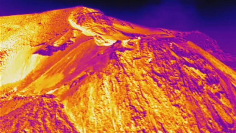 Вулканологи создали первую трехмерную тепловую карту извергающегося вулкана