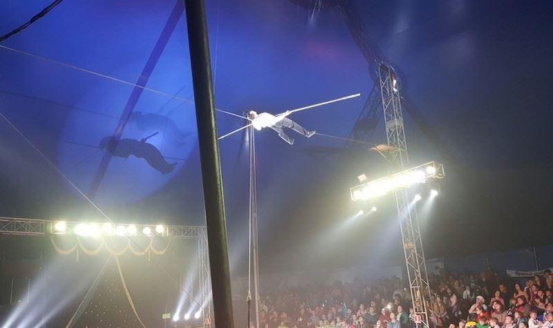 Видео: Канатоходец упал на арену цирка в Братске