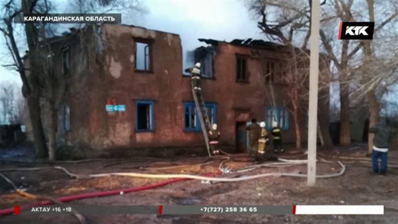 В Карагандинской области 29-летний сельчанин  погиб при пожаре