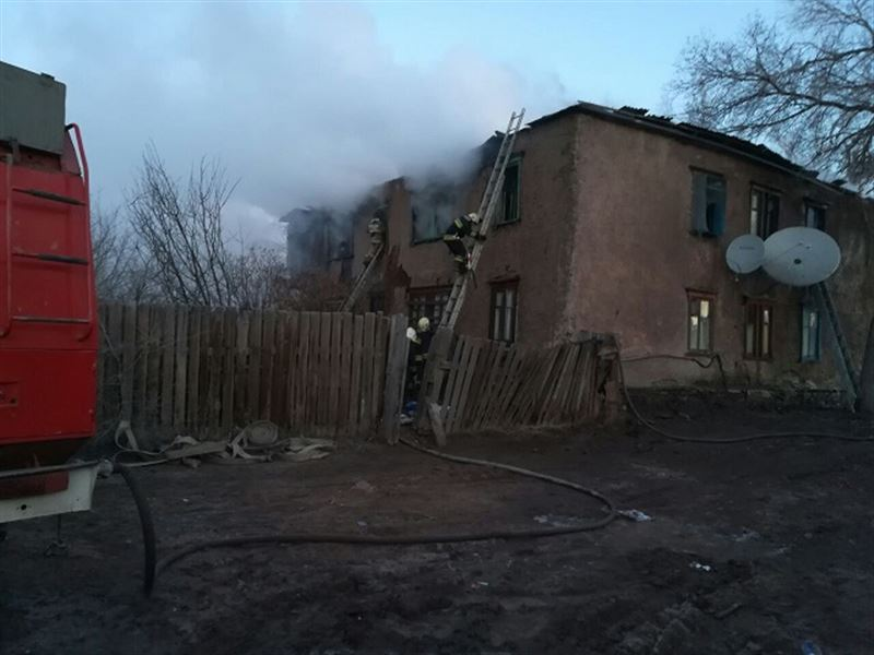 Мужчина стал жертвой пожара в Карагандинской области