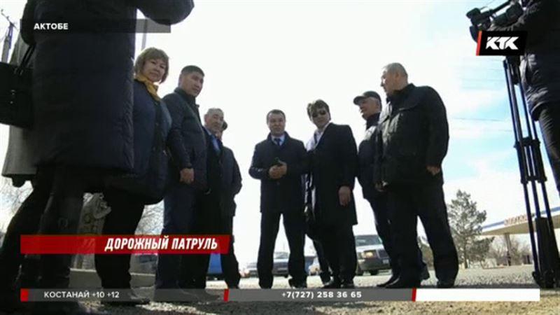 Актюбинские чиновники пожурили подрядчиков за плохие дороги