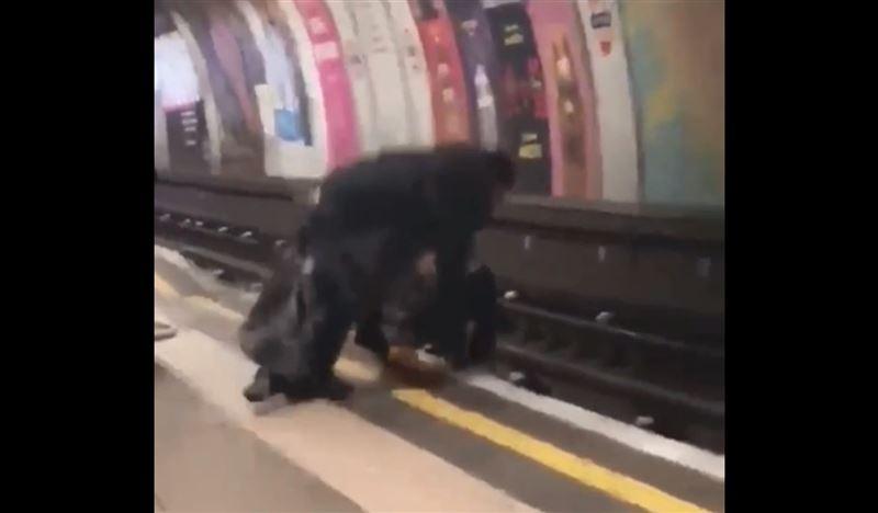 Друзья устроили шуточную борьбу и упали на рельсы перед подъезжающим поездом