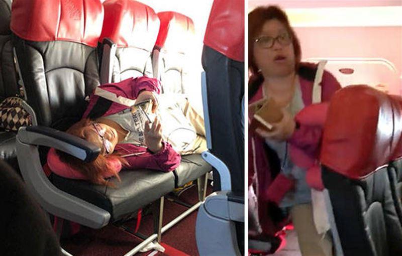 Пассажиров самолета возмутила женщина, которая легла на три сидения