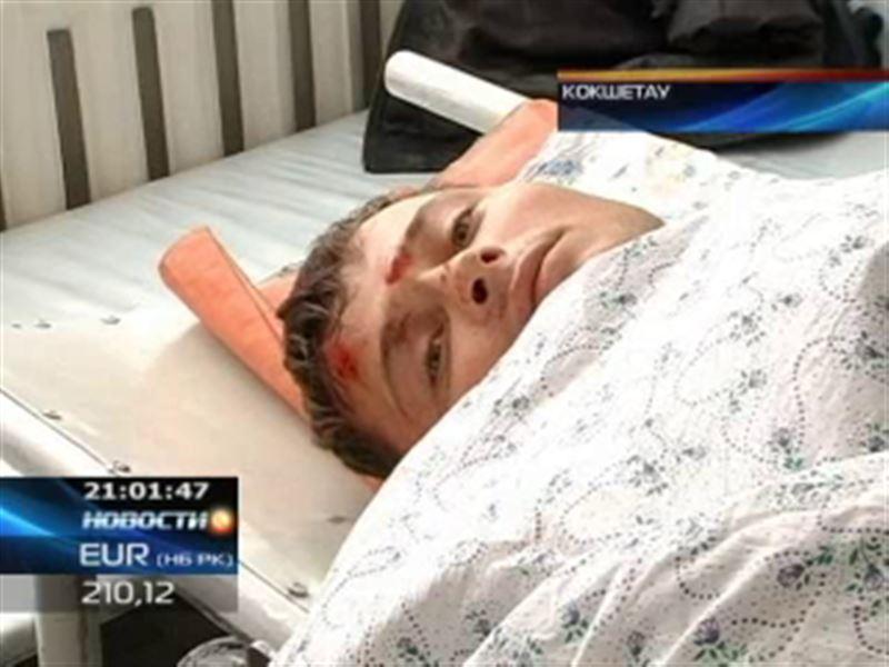 В Кокшетау стрела 12-тонного крана рухнула прямо на рабочего