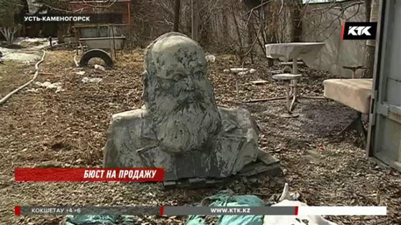 В Усть-Каменогорске продают часть памятника, за который автору так и не заплатили