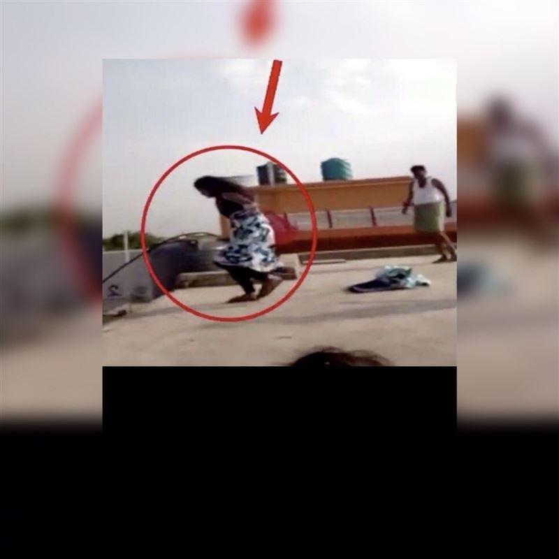 ВИДЕО: Бойжеткен әкесінен қашамын деп шатырдан секіріп кетті