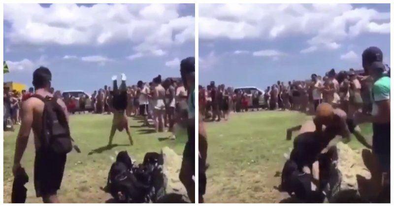 ВИДЕО: Демалушы акробатты өлім аузынан құтқарып қалды