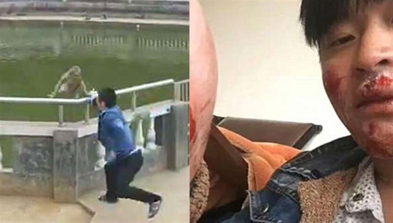 ВИДЕО: Обезьянка отомстила туристу, который столкнул ее в воду
