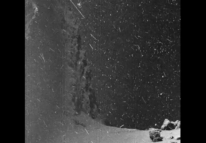Ученые создали анимацию «космической метели» на поверхности кометы