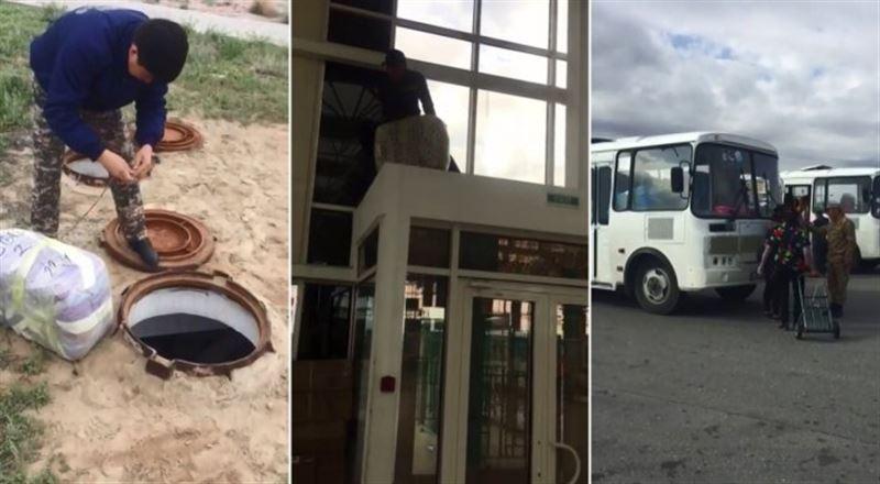 ВИДЕО: «Қорғаста» кәріз люктерінде жасырылған 16 тонна контрабандалық тауар табылды