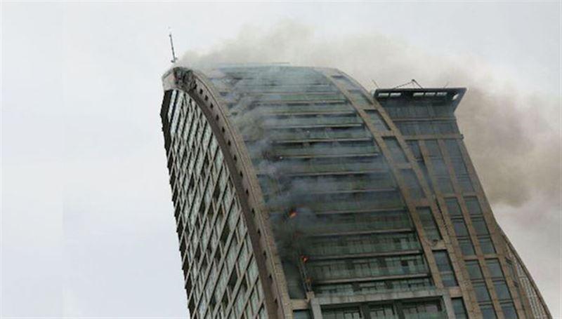 В столице Азербайджана горит небоскрёб Trump Tower
