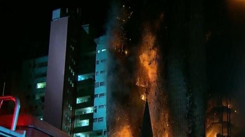 В Бразилии в результате пожара пропали без вести до 45 человек
