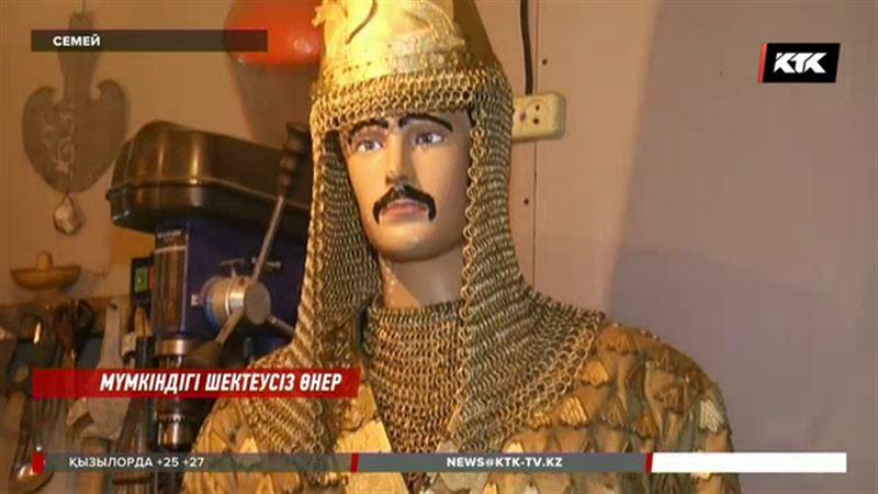 Семейде алтын адам мен ежелгі қазақ батырының мүсіндері жасалды